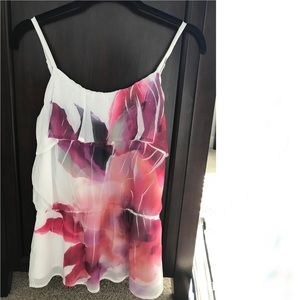 NWT white and pink flowy camisole blouse